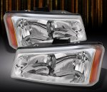Chevy Silverado 2500HD 2003-2006 Clear Euro Headlights