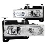 1997 GMC Yukon Halo Headlights Clear