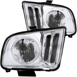 2006 Ford Mustang CCFL Halo Headlights Chrome