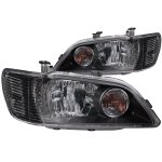 Mitsubishi Lancer 2002-2003 Black Euro Headlights