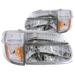 Ford Explorer 1995-2001 Headlights and Corner Lights Chrome