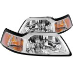 Ford Mustang 1999-2004 Crystal Headlights Chrome