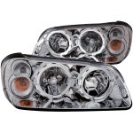 Nissan Maxima 2002-2003 Clear Euro Headlights Halo