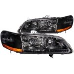 2000 Honda Accord Black Euro Headlights