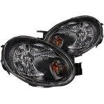 Dodge Neon 2003-2005 Black Euro Headlights