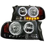 2002 Dodge Durango CCFL Halo Headlights Black LED