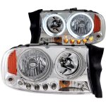 2002 Dodge Durango CCFL Halo Headlights Chrome LED