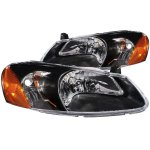 Dodge Stratus Sedan 2001-2004 Black Euro Headlights
