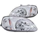 2000 Honda Civic Clear Euro Headlights