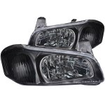 Nissan Maxima 2000-2001 Black Euro Headlights