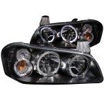 Nissan Maxima 2002-2003 Black Euro Headlights Halo