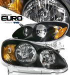 2007 Toyota Corolla TYC Black Euro Headlights