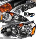 2003 Acura RSX TYC JDM Black Euro Headlights