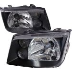 2004 VW Jetta Black Euro Headlights