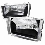 2002 Ford F250 Super Duty Black Euro Headlights