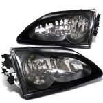 Ford Mustang 1994-1998 Black Custom Headlights