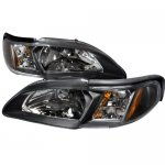 1994 Ford Mustang Black Euro Headlights