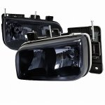 GMC Yukon Denali 1999-2000 Dark Smoked Euro Headlights