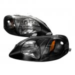 Honda Civic 1999-2000 Black Custom Headlights