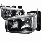 GMC Yukon Denali 1999-2000 Black Euro Headlights