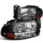1998 Dodge Durango Black Headlights LED DRL