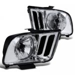Ford Mustang 2005-2009 Chrome Euro Headlights