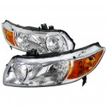 Honda Civic Coupe 2006-2011 Chrome Custom Headlights