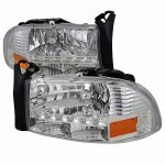 1998 Dodge Durango Chrome Headlights LED DRL