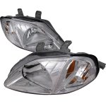 Honda Civic 1999-2000 Clear Euro Headlights
