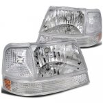 Ford Ranger 1998-2000 Clear Euro Headlights and Bumper Lights Set