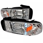 1997 Dodge Ram Chrome Crystal Headlights with LED