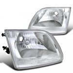 1999 Ford F150 Chrome Custom Headlights