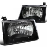 Ford Econoline Van 1992-2006 Black Custom Headlights
