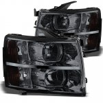 2007 Chevy Silverado 2500HD Smoked Headlights