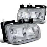 GMC Yukon Denali 1999-2000 Clear Euro Headlights