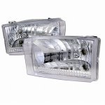 2002 Ford F250 Super Duty Chrome Euro Headlights