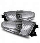 Mitsubishi Lancer Coupe 1997-2002 Chrome Euro Headlights