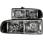 2003 Chevy S10 Pickup Euro Headlights Black