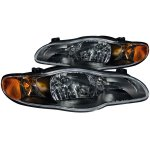 Chevy Monte Carlo 2000-2005 Black Euro Headlights