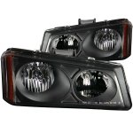 2003 Chevy Silverado 2500 Euro Headlights with Black Housing