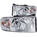 2001 Dodge Ram 2500 Crystal Headlights Chrome LED