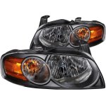 Nissan Sentra 2004-2006 Black Headlights