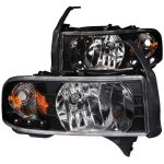2001 Dodge Ram 2500 Crystal Headlights Black LED