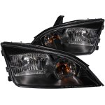 Ford Focus ZX4 2005-2007 Crystal Headlights Black