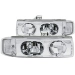 Chevy Astro 1995-2005 Chrome Euro Headlights