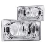 2002 Ford F250 Super Duty Crystal Headlights Chrome
