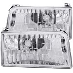 Ford F250 1992-1996 Crystal Headlights Chrome