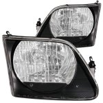 1999 Ford Expedition Crystal Headlights Black
