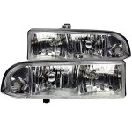 2003 Chevy S10 Pickup Euro Headlights Chrome
