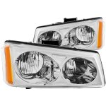 Chevy Silverado 2500HD 2003-2006 Euro Headlights with Chrome Housing
